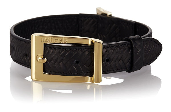 Dog Collar & Leash M/L Black