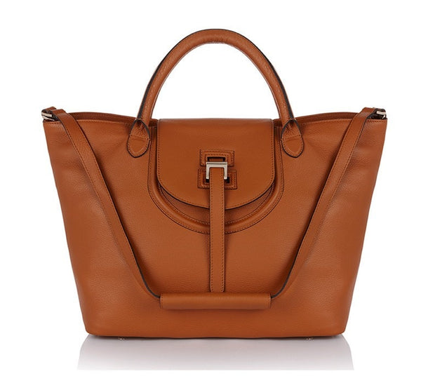 Halo Tan Leather Handbag - from meli melo