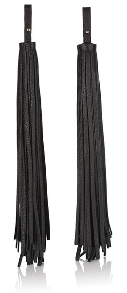 Buy Leather Tassel Charm Duo in Black - from meli melo