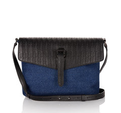 Maisie Medium Bag Denim and Black Woven Leather
