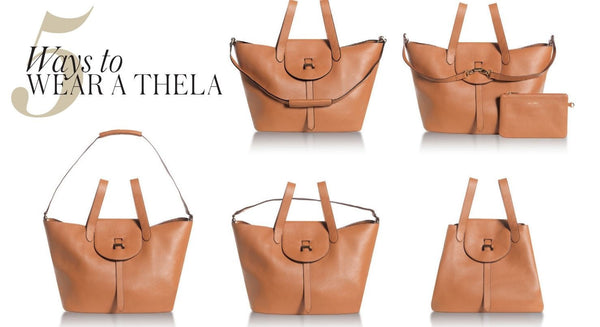 Thela Medium Tote Bag Zipper Black
