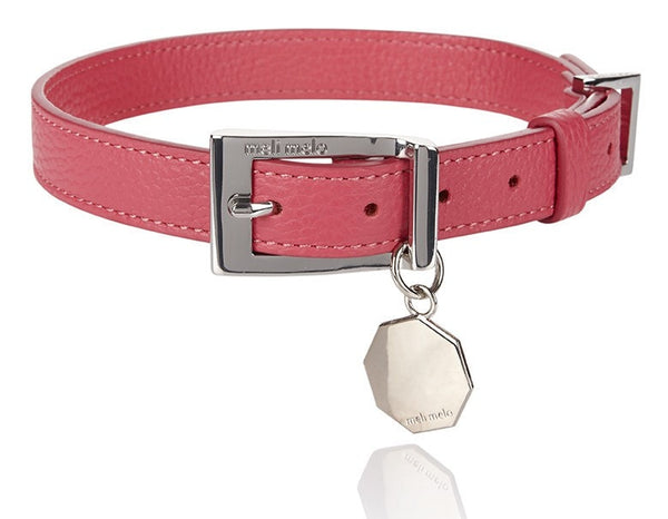Dog Collar & Lead Lipstick Pink M/L - from meli melo