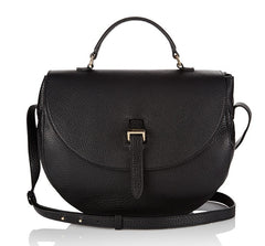 Ortensia Large Saddle Bag Black