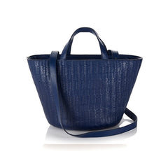 Rosalia Mini Handbag Midnight Blue Woven