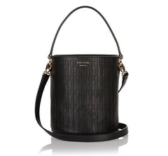 Santina Bucket Bag Black|Italian Handbag|meli melo