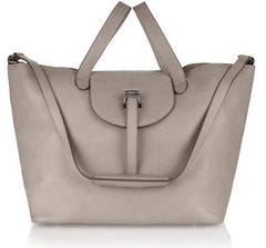 Thela Taupe Tote Bag