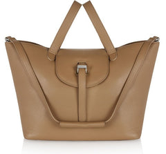 Thela Tote Bag Light Tan|Italian Handbag| meli melo