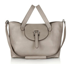 Designer Handbags - Thela Medium Taupe - meli melo