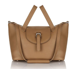 Thela Medium Tote Bag Light Tan|Italian Handbag| meli melo