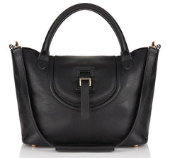 Halo Medium Handbag in Black - from meli melo