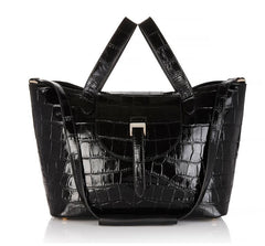 Thela Medium Black Croc - from meli melo