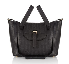 Thela Medium Black Woven - from meli melo