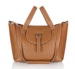 Thela Medium Tote Bag Light Tan Woven - from meli melo