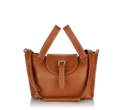 Thela Mini Bag Tan with Contrast Stitching|Italian Handbag|meli melo
