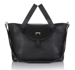Thela Medium Tote Bag Zipper Black - from meli melo