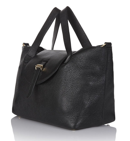 medium thela black luxury handbag