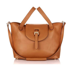 Thela Medium Tan Tote Bag|Italian Handbag|meli melo