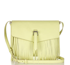 Maisie Medium Cross Body Bag Lime Fringing|Italian Handbag| meli melo