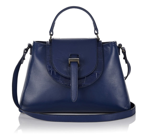 Flavia Handbag Midnight Blue - from meli melo