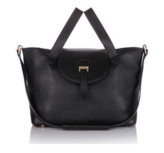 Thela Medium Black|Italian Handbag|meli melo