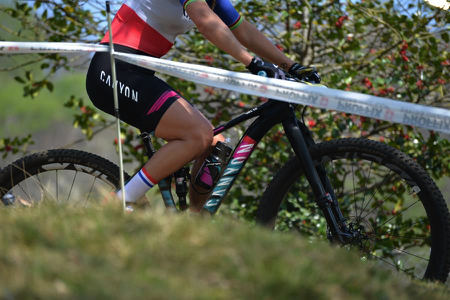 Pauline Ferrand-Prévot at Nové Město, her first MTB world cup of the season