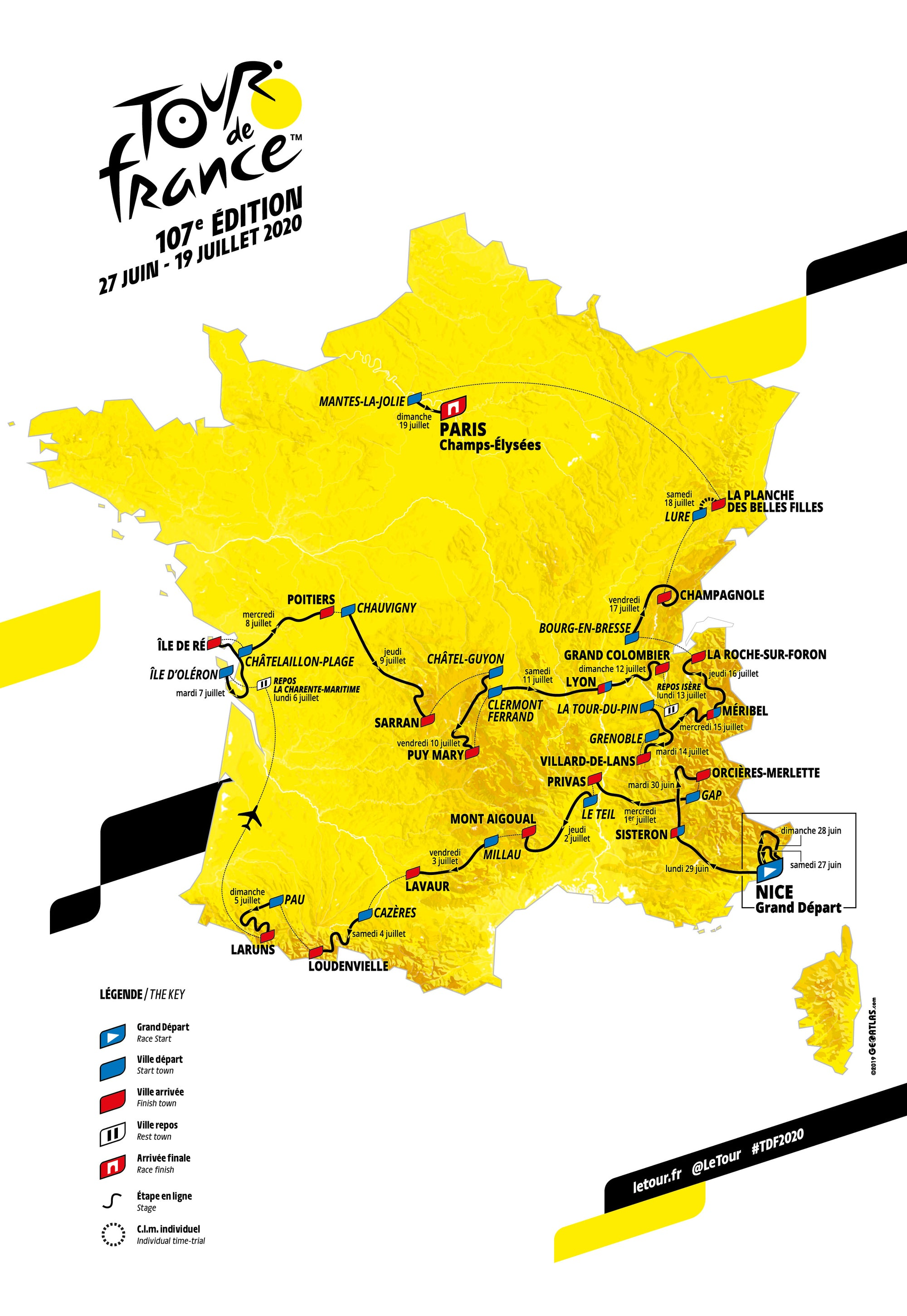 Tour de France 2020 - Route Presentation - Paris 15.10.19