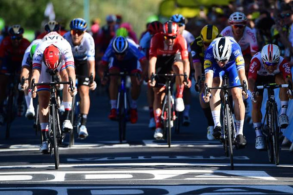 Elia Viviani sprinter Deceuninck - Quick-Step Stage 4 Winner Tour de France 2019