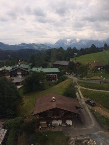 view from Mark McNally's Austrian ski chalet temporary home