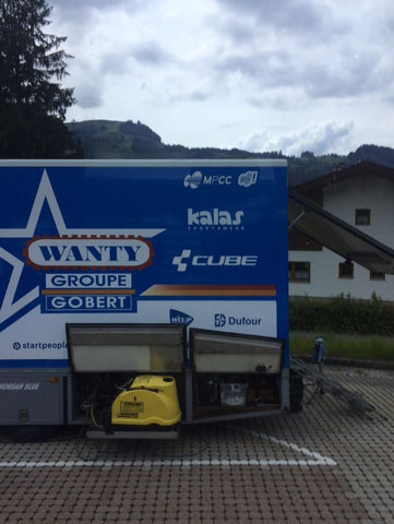 Random shot of Wanty-Groupe Gobert mechanics truck - thanks Macca