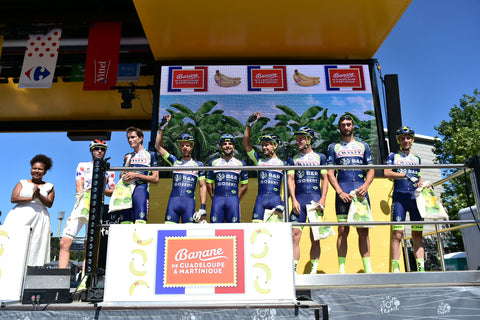 Team Wanty-Groupe Gobert sign on at the start of Stage 5 2018 Tour de France
