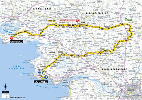 Stage 4 route 2018 Tour de France La Baule > Sarzeau