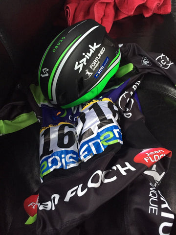 Dan McLay of Team Fortuneo-Vital Concept shares his areo lid and skinsuit