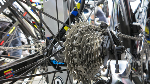 Gears on Dan McLay's Look bike