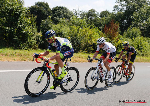 Dion Smith of Wanty-Groupe Gobert in Stage 2 breakaway
