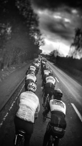 Liverpool Century Road Club, back and white train