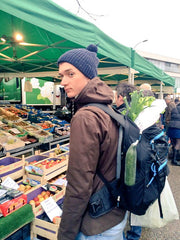 Macca shopping for veggies back home in Belgium