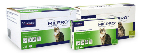 Milpro grote kat 4 of 48 tabletten