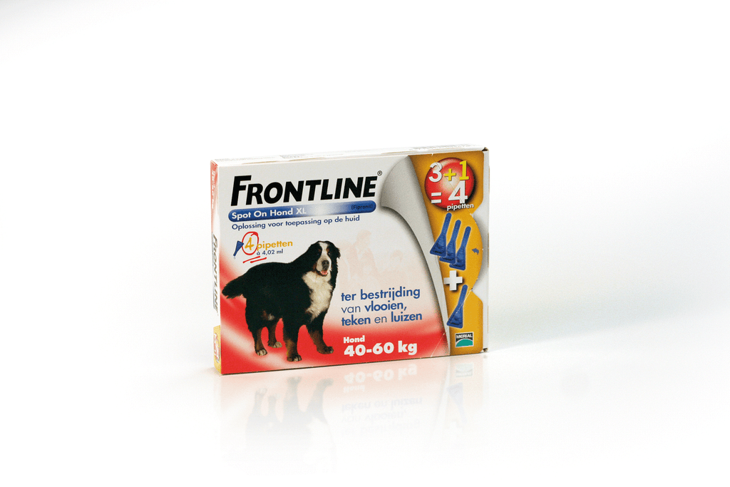 Frontline Spot-on Hond | XL 40-60 kg | 3+1 pipet