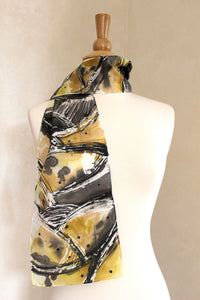 Breaking Boundaries Silk Scarf - Gold and Black