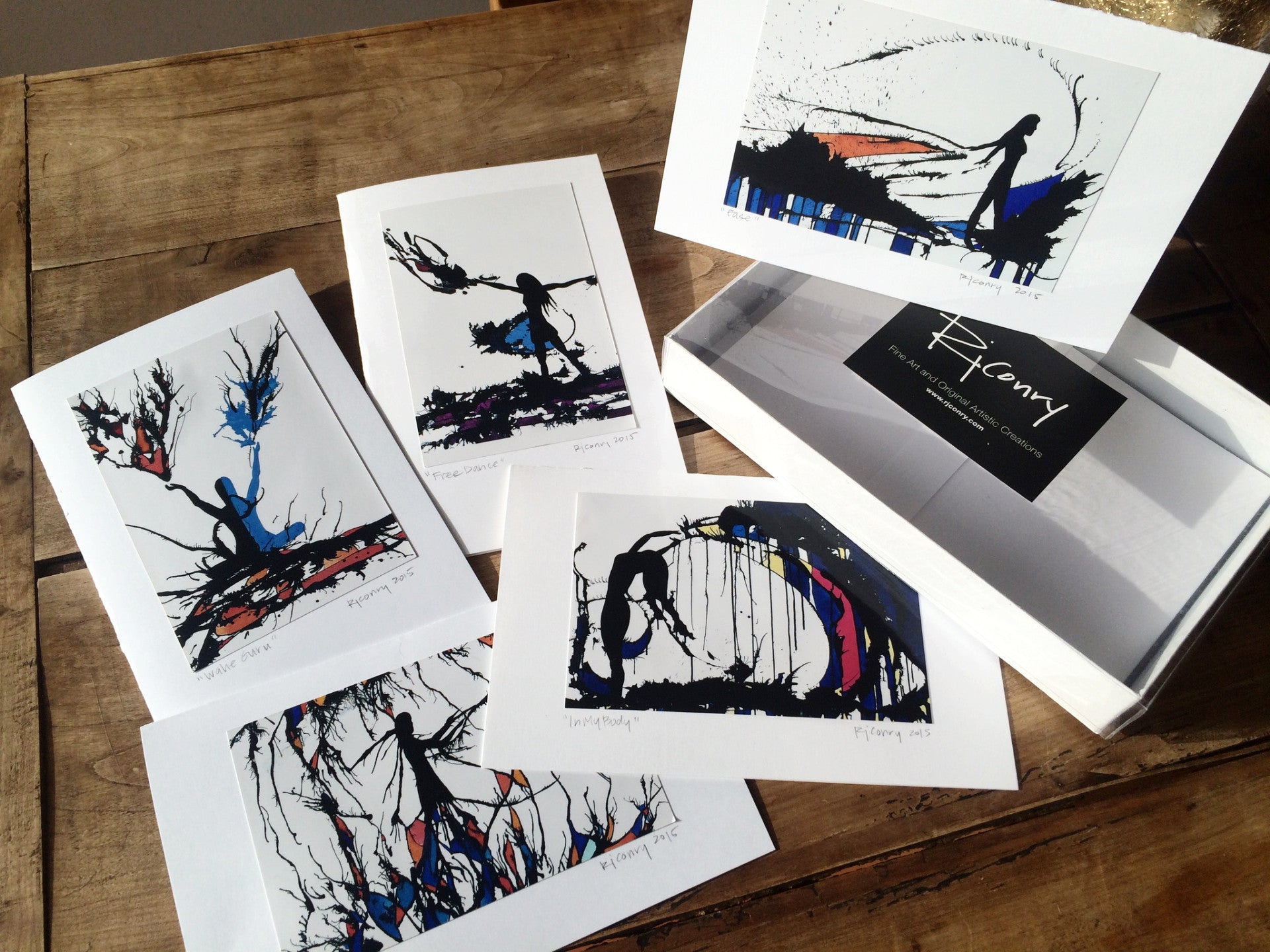 Ink Art Print Gift Card Set - 10 cards, signed by the artist