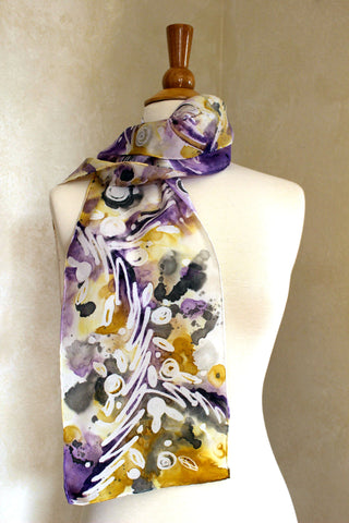 Floral Fantasy - Purple, Gold and Black