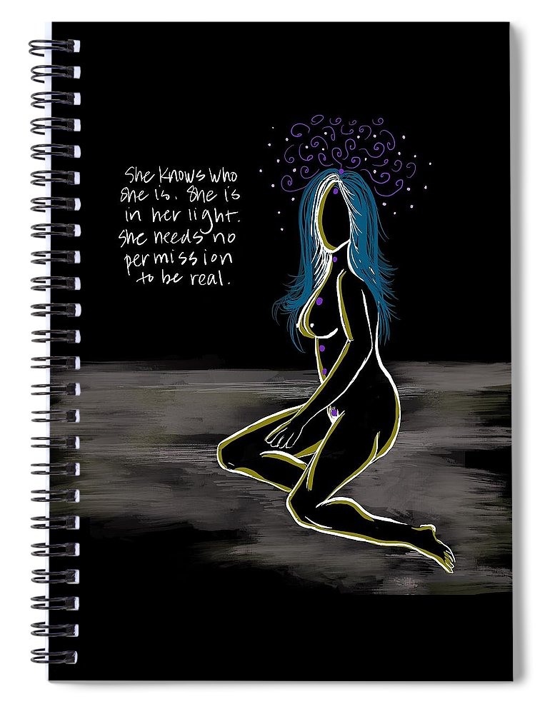 In Her Light - Spiral Notebook