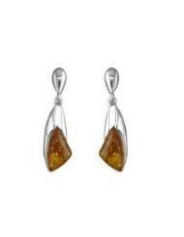 Athena Amber Earrings - Violetmai Jewellery and Gifts
