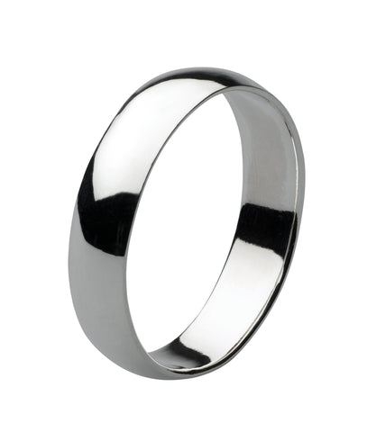 Dew sterling silver 7mm plain silver band - Violetmai Jewellery and Gifts