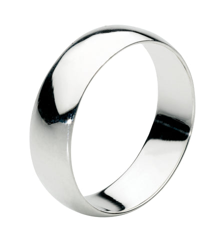 Dew Sterling Silver 9mm Plain Silver Band - Violetmai Jewellery and Gifts