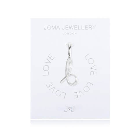 Joma Alphabet  Pave Charm Initial B - Violetmai Jewellery and Gifts