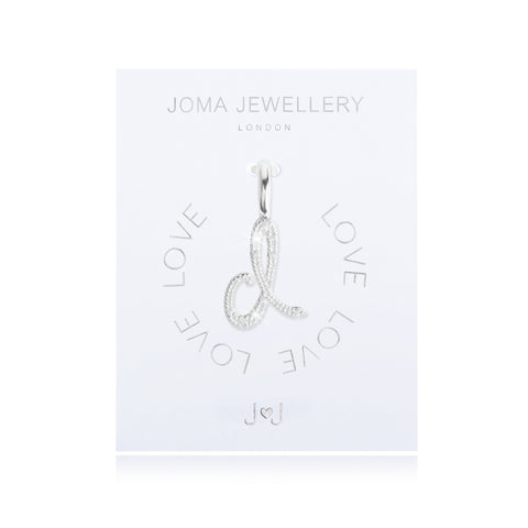Joma Alphabet  Pave Charm Initial D - Violetmai Jewellery and Gifts