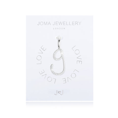 Joma Alphabet  Pave Charm Initial G - Violetmai Jewellery and Gifts