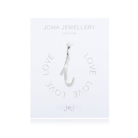 Joma Alphabet  Pave Charm Initial I - Violetmai Jewellery and Gifts