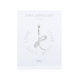 Joma Alphabet  Pave Charm Initial K - Violetmai Jewellery and Gifts